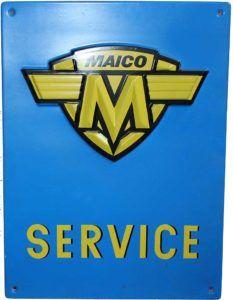 Maico Service Schild