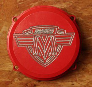 Maico Zündungsdeckel Rot Altes Emblem